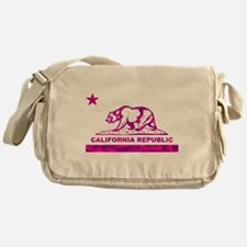 california bear camo pink Messenger Bag