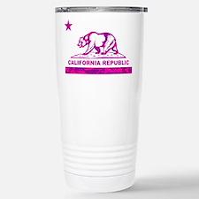 california bear camo pink Travel Mug