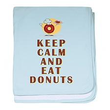 EAT DONUTS baby blanket