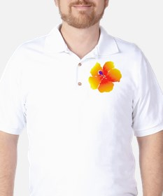 Red and Yellow Watercolor Hibiscus Flow T-Shirt