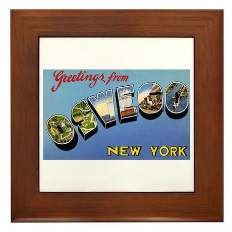 Oswego New York Greetings Framed Tile