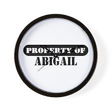 Property of Abigail Wall Clock