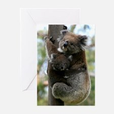 Australian Koala Mother and Baby Greeting Cards (P