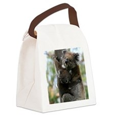 Australian Koala Mother and Baby Canvas Lunch Bag