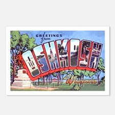 Oshkosh Wisconsin Greetings Postcards (Package of