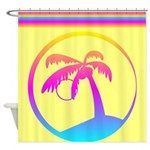 Colorful Palm Tree Design Shower Curtain