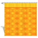Orange Diamond Pattern Shower Curtain