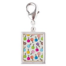 PAINT YOUR NAILS Silver Portrait Charm