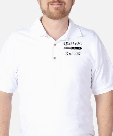 Place for this Amp Plug Golf Shirt
