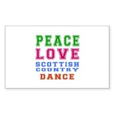 Peace Love Scottish Country Dance Designs Decal