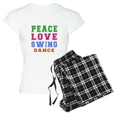 Peace Love Swing Dance Designs pajamas