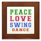 Swing dance Framed Tiles