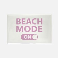Beach Mode On Rectangle Magnet