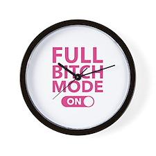 Full Bitch Mode On Wall Clock