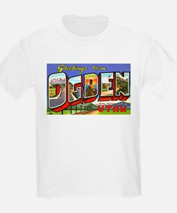Ogden Utah Greetings (Front) Kids T-Shirt
