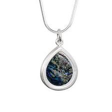Abalone Silver Teardrop Necklace