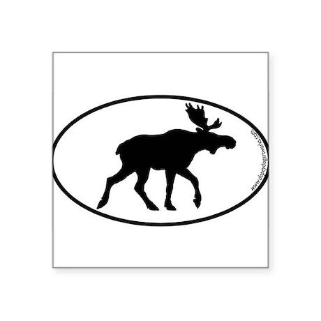Moose SILHOUETTE Oval Sticker