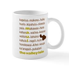 Maui Island Type Print Mug