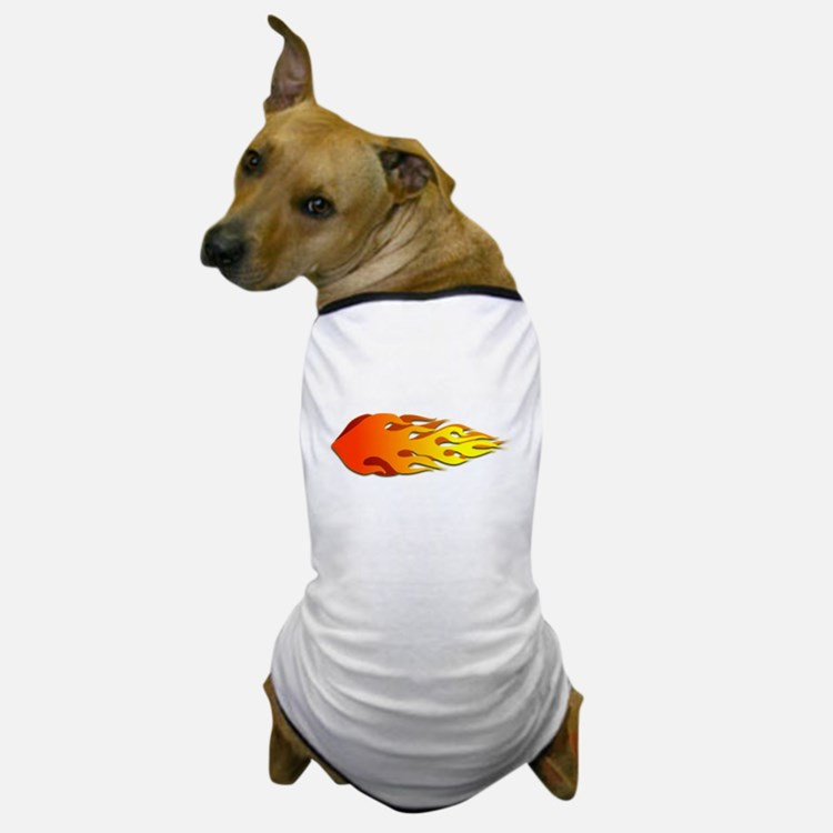Racing Flames Dog T-Shirt