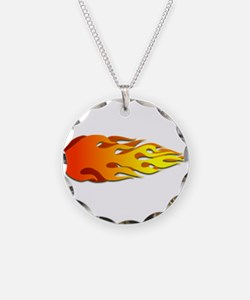 Racing Flames Necklace