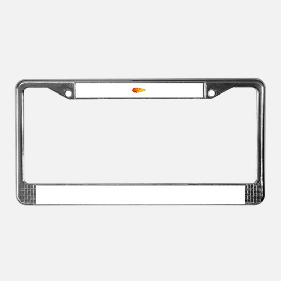 Racing Flames License Plate Frame