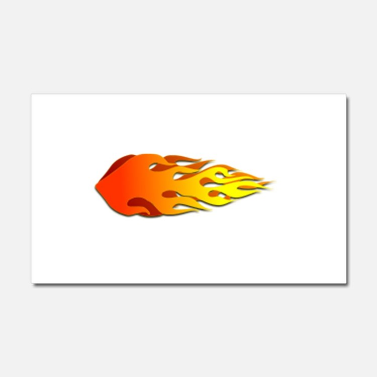 Racing Flames Car Magnet 20 x 12