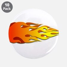 """Racing Flames 3.5"""" Button (10 pack)"""