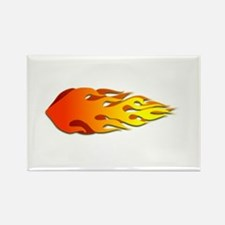 Racing Flames Rectangle Magnet (100 pack)