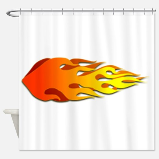 Racing Flames Shower Curtain