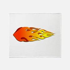 Racing Flames Throw Blanket