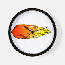 Racing Flames Wall Clock