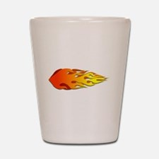Racing Flames Shot Glass