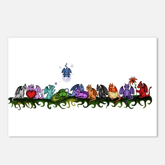 many cute Dragons Postcards (Package of 8)