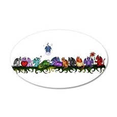 many cute Dragons Wall Decal