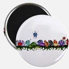 """many cute Dragons 2.25"""" Magnet (10 pack)"""