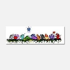 many cute Dragons Car Magnet 10 x 3