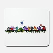 many cute Dragons Mousepad