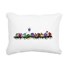 many cute Dragons Rectangular Canvas Pillow