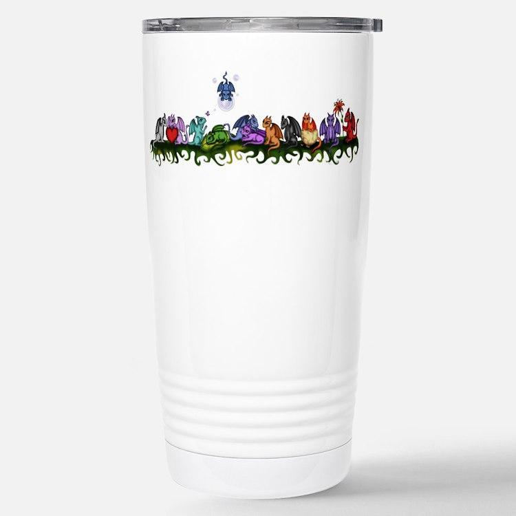 many cute Dragons Travel Mug