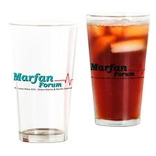 marfan forum logo Drinking Glass