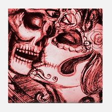 Amor De Calaveras Tile Coaster
