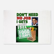 FREE FOOD STAMPS 5'x7'Area Rug
