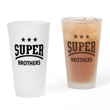Super Brothers (Black) Drinking Glass