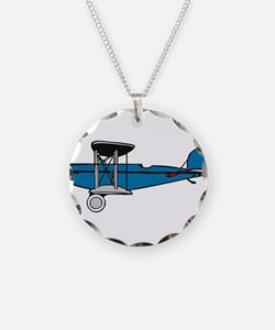 Vintage Biplane Necklace