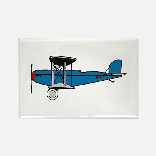 Vintage Biplane Rectangle Magnet