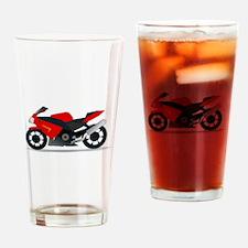 Sportbike Motorcycle Drinking Glass