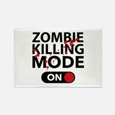Zombie Killing Mode On Rectangle Magnet (10 pack)