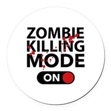 Zombie Killing Mode On Round Car Magnet