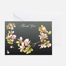 Thank you card with pretty pink Magnolia