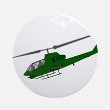 Attack Helicopter Ornament (Round)